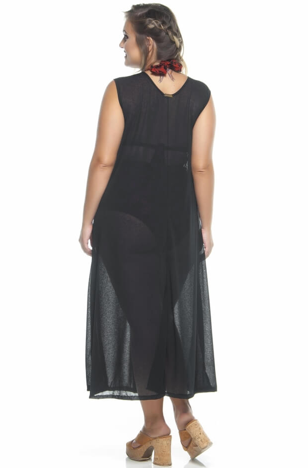 Regatão Plus Size Devorê Preto
