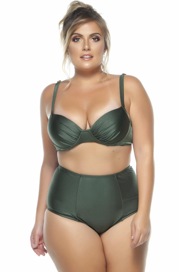 Sutiã Plus Size Drapeado Bojo Regulagem Croco