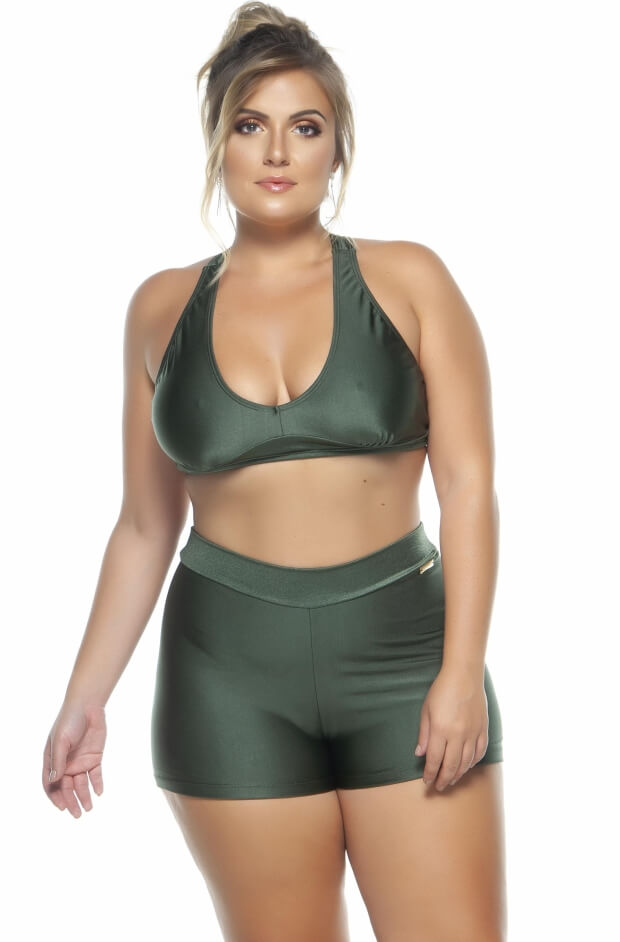 Top Plus Size Costa Nadador Croco